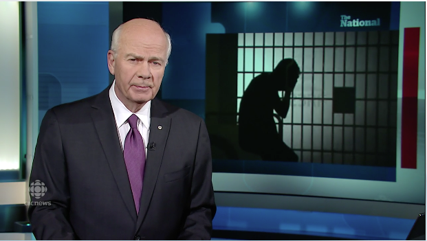 An interview with Glen Flett aired on the CBC National January 19th, 2015. In the interview Glenn speaks about the effects of solitary confinement on prison inmates.