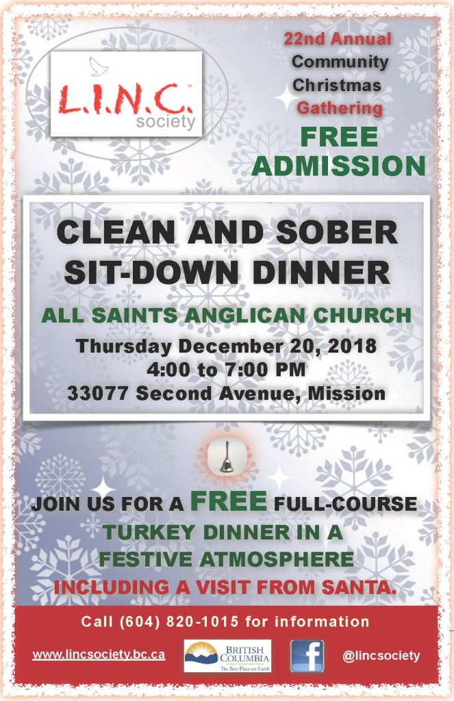 L.I.N.C. Clean & Sober Sit-Down Christmas Dinner